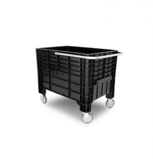 Caixa Coletora 372 litros Preto com Rodas, Tampa e Alça