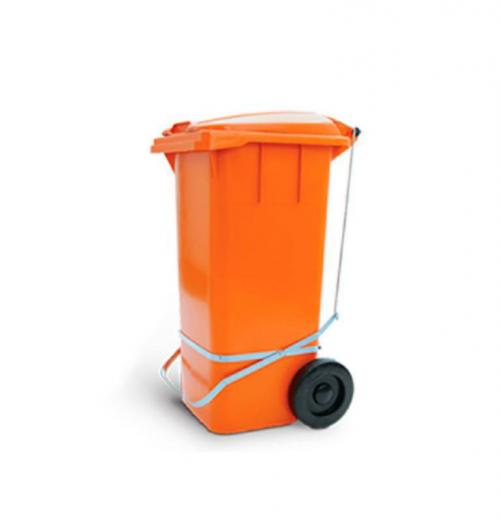 Container 120 litros Diversas Cores com Rodas, Tampa e Pedal