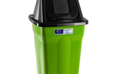 Lixeira Basculante 60 litros Diversas Cores Santana