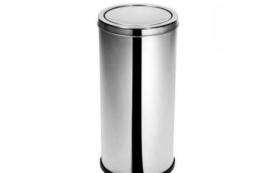 Lixeira Inox com Tampa Basculante 22 litros Purimax