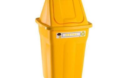 Lixeira Seletiva Basculante Metal 60 litros Santana