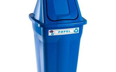 Lixeira Seletiva Basculante Papel 60 litros Santana