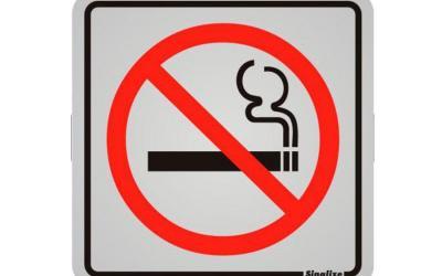 Placa de Aviso Proibido Fumar Alumínio 12 x 12 cm