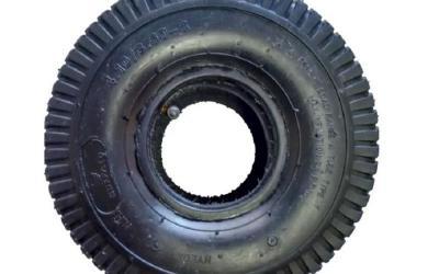 Pneu Industrial de Borracha 350 x 4