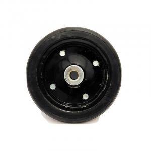Roda de Borracha Estampada com Rolamento de Rolete
