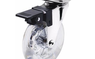 Rodízio de Silicone 100 mm Giratório com freio