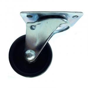 Rodízio Giratório Leve 158 com Roda Preta Placa
