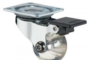Rodízio de Silicone 35 mm Giratório com freio