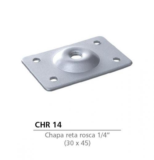 CHAPA RETA 30 X 45 COM ROSCA 1/4