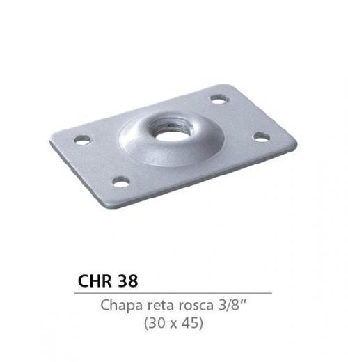 CHAPA RETA 30 X 45 COM ROSCA 3/8