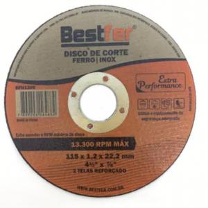 DISCO CORTE METAL INOX 115 X 1.2 BESTFER