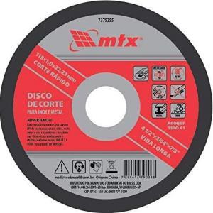 DISCO CORTE METAL INOX 180 X 1.6 MTX