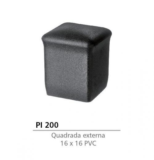 PONTEIRA EXTERNA DE PVC 16 X 16 PRETA