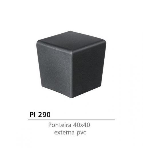 PONTEIRA EXTERNA DE PVC 40 X 40 PRETA