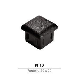 PONTEIRA INTERNA DE PVC 20 X 20 PRETA